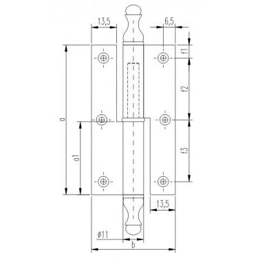 Петля мебельная карточная FS 1151