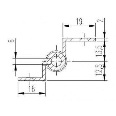 Петля мебельная карточная FS 1152