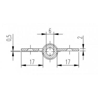 Петля мебельная карточная FS 1161