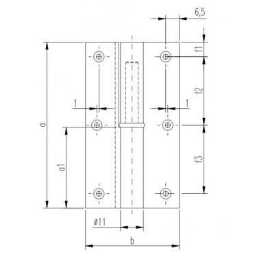 Петля мебельная карточная FS 1162